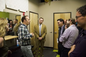 Odenkirk backstage