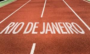 Rio de Janeiro written on running track